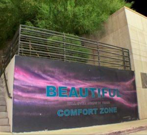 Spray Paint and Acrylic on Concrete, 15x8 feet. 2015.