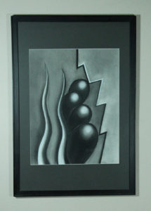 """""""Early O'Keefe"""" - Charcoal on cotton, 60x48 cm. 2014."""